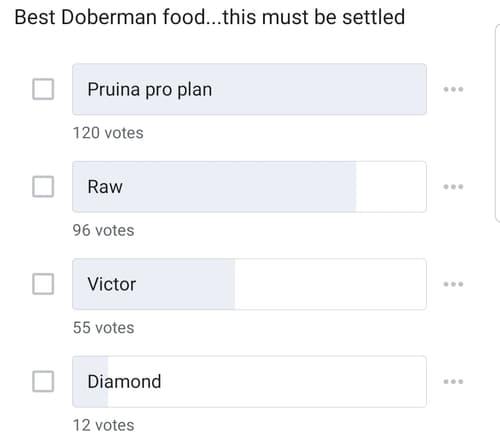 Best Dog Food for Dobermans Poll