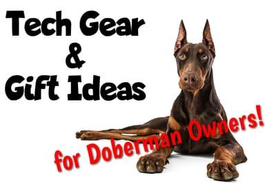 Doberman Tech Gear and Gift Ideas Title