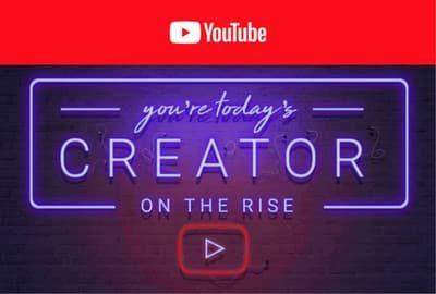 YouTube Creator on the Rise logo.